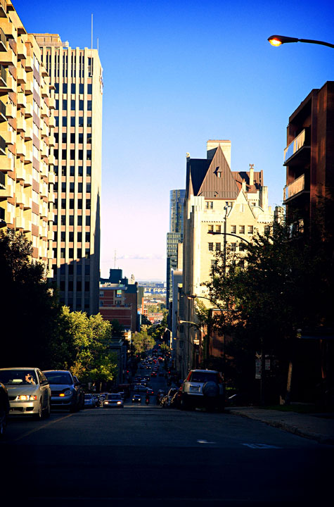 The streets of Montreal
