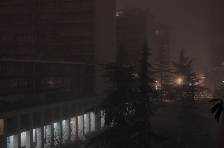 Cold and foggy night