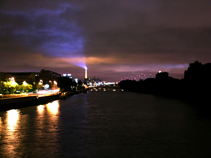 Eiffel Tower's Bat signal