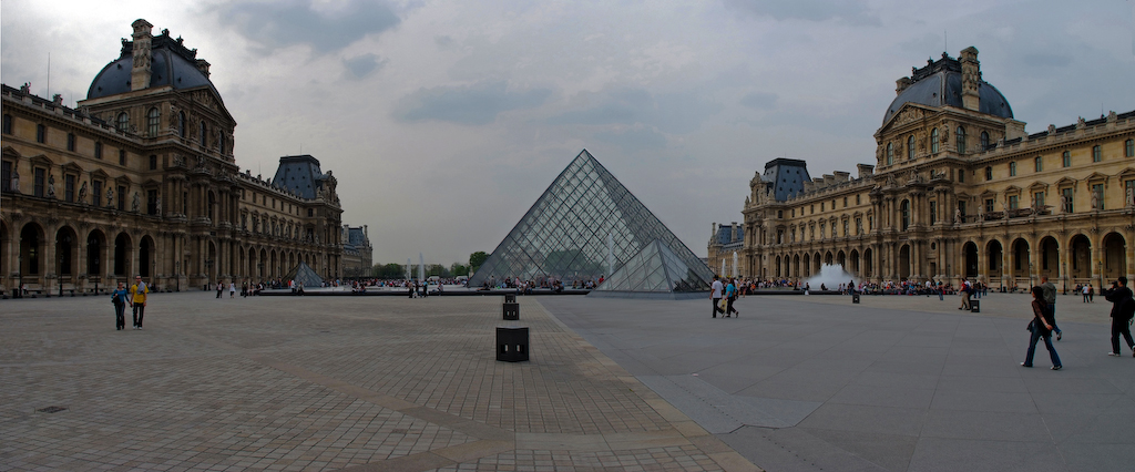 Panoramic view at the Louvre