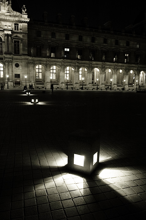 Floor lights at the Louvre