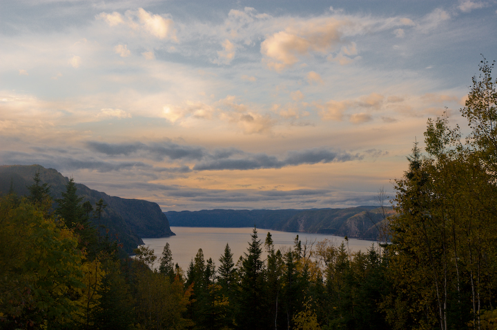 View on Saguenay's Fjord