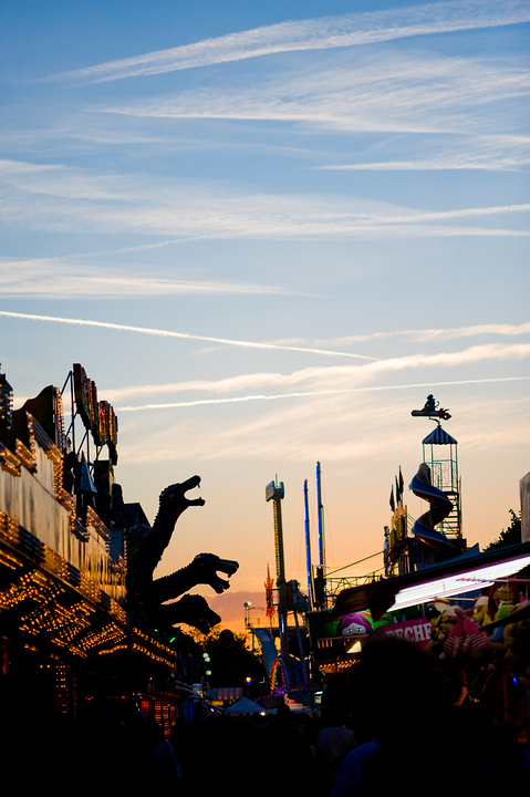 sunset on the funfair (tuileries)
