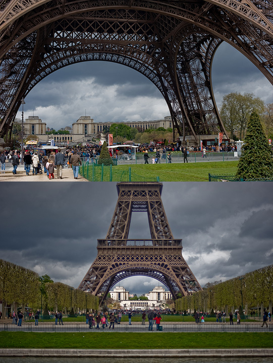 Threatning Sky Over The Eiffel Tower