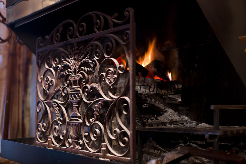Fireplace in the