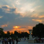 Sunset over Tuileries Gardens