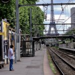 RER tracks to the Eiffel tower