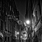 Dark Street In Lyon